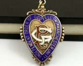 Antique Watch Fob, Watch Fob Medal, Enameled Sterling Silver, Independent Order of Oddfellows, Manchester Unity, 1912, Odd Fellows