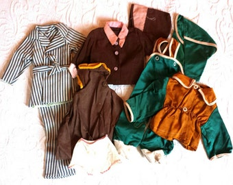 Vintage Doll Clothes Lot 8 Pieces