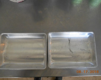 Set of 2 vintage Wilton Chicago 60643 Aluminum Shapely Cake Pans Made in Japan