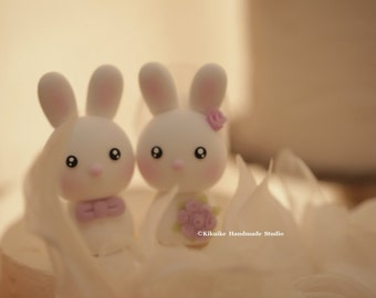 rabbit and bunny Wedding Cake Topper