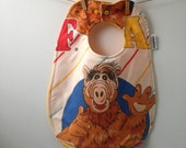 Alf Baby Gift - Upcycled Bib from Vintage Sheets - 80s Baby Gift - 80s TV Show - Unique Baby Gift - Toddler Baby Bib with Snaps