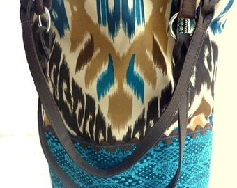 boho chic handbag,  tribal bag, western chic handbag, tote bag, laptop tote, book tote, Aztec bag, southwestern bag, hippie bag, book bag