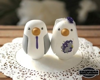 Wedding Cake Topper - Medium Love Birds
