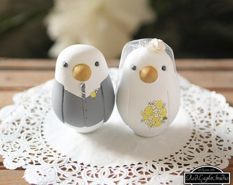 Love Bird Wedding Cake Toppers - Medium