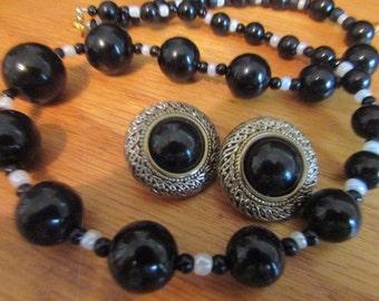 Black white jewelry