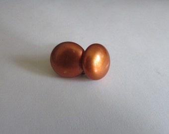 copper button screw backs