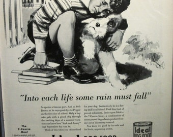 "Pets ... 102  ""Ideal Dog Food"" Ad -  1940"