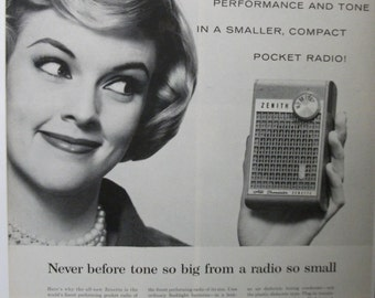 "Rad...178   ""Zenith Pocket Radio""  Ad - March 1960"