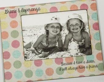 Personalized Baby Sister Photo Frame, Big Sister Frame 4x6, 5x7