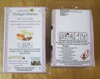 Vintage Kitchen Scented Soy Wax Melts Pack