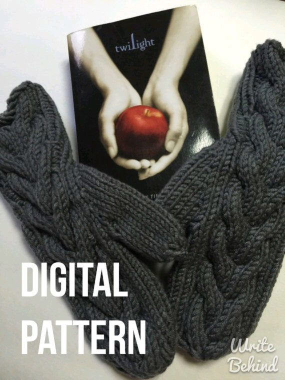 Digital Download Pattern Twilight Inspired Bella Mittens