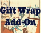 Gift Wrapping Service Add-on. Upcycled + Eco-friendly. Brown Kraft Paper, Map Wrap, or Sewing Patterns. MADEbyLB