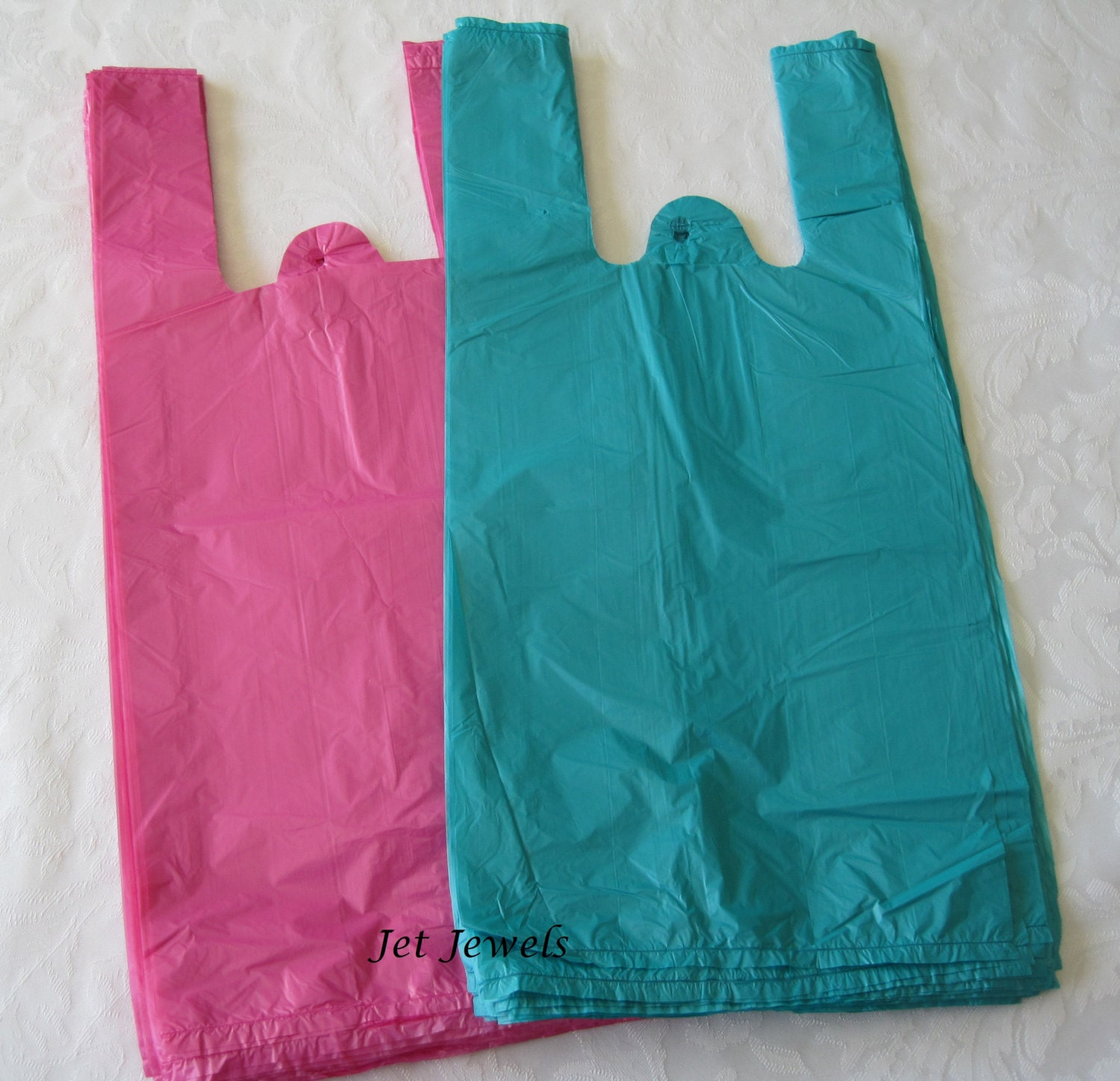 100 Plastic Bags T Shirt Bags Pink Bags Pink T Shirt