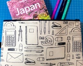 Pencil Case Stationery Doodles Pouch