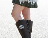 Monogrammed Riding Boots, Size 9, Monogrammed Boots, Personalized Gift, Gift for Her, Christmas Gift