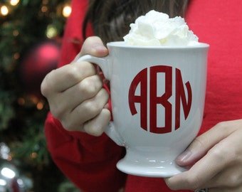 Monogrammed Mug, Personalized Mug, Monogrammed Gift, Gift for Her