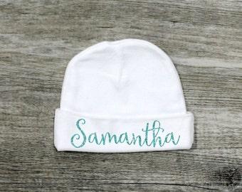 Newborn Hat, Baby Hat, Newborn Baby Hat, Personalized Newborn Hat, Personalized Baby Hat, Take Home Baby Outfit, Baby Gift
