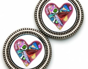 Sweater and Scarf Magnet Pin HEART Valentine Print
