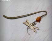 Outlander Bookmark - Dragonfly in Amber Bookmark -  Amber Bookmark - Diana Gabaldon Inspired - Dragonfly Bookmark - Outlander Theme Bookmark