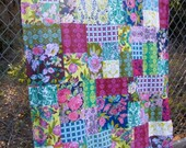 Jennifer Paganelli Color Brigade Patchwork and Minky Blanket