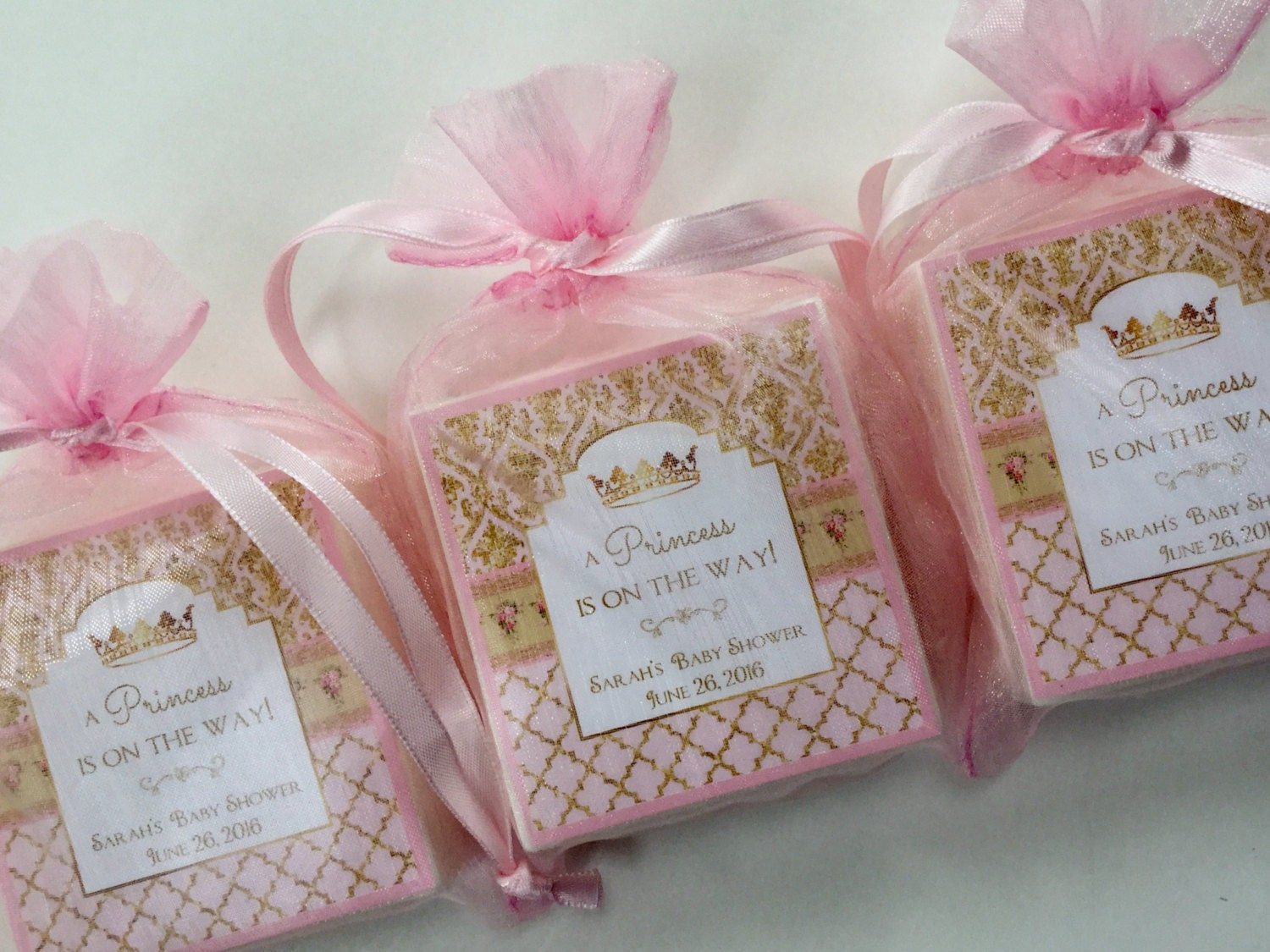baby shower favors baby girl princess theme soap favors