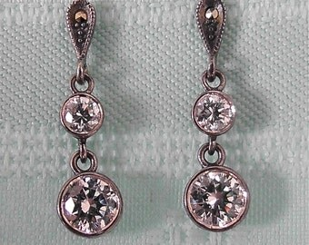 ON SALE was 14.99 Diamond Crystal Earrings