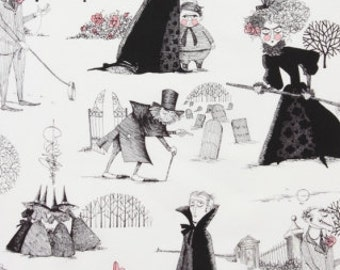 The Ghastlies in Lt. Tea - By Alexander Henry 100% Quilters Cotton Available in Yards, Half Yards and Fat Quarters
