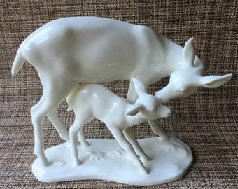 Noritake Deer Doe Fawn Figurine  Nippon Toki Kaisha Japan Bone China