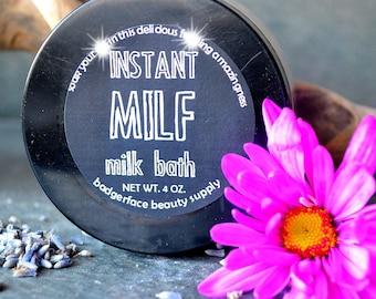 Pregnancy Gift. Instant MILF Milk Bath Soak. 4 oz / 113 g. Mother's Day Gift. New Mom Gift. Expecting Mom Gift. MILF. Gift for New Mom.