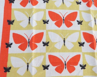 Vintage Kitchen Tea Towel Butterflies Startex Wonder-Dri