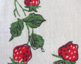 Vintage Tea Kitchen Towel Startex Strawberry
