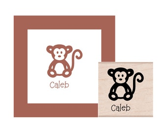 Monkey Personalized Rubber Stamp