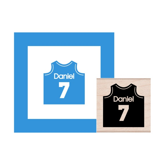 Personalized Sports Jersey  Rubber Stamp