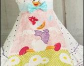 Girls Disney Daisy Duck spring Easter Dress Size 5 6 7