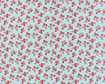End of Bolt - 2 1/2 yards left * Little Ruby Little Tulip Aqua 55133 12 Yardage by Bonnie and Camille for Moda