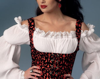 Renaissance Pirate Medieval Steampunk Pagan Chemise SCA Witch Fairy