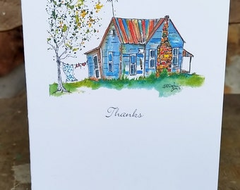 That House 2, Thank You Notecard, blank inside