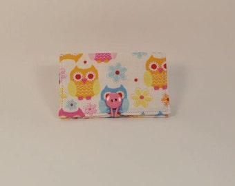 Fabric Business Card Holder - Owls B