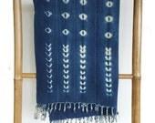 Vintage African Indigo Mudcloth Textile Throw | OATES