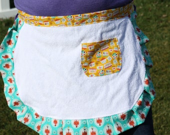 Terry Cloth Mini Apron