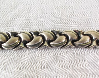 1950s Vintage Turkish Sterling Silver Abstract Bracelet by Atasay Kuyumculuk