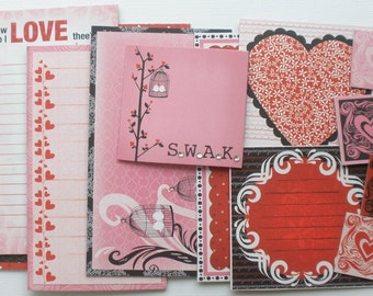 CRUSH - Journal Cards - Chipboard Die Cuts - Love Pictures, Journaling Spots & Frame Embellishments - 10 Pieces