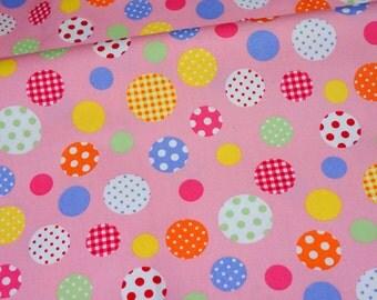 Colorful Circle print Half meter  (n431)