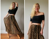 1990s Festival Animal Skirt~Size Small to Medium