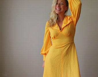 1970s Sunshine Dress~Size Small to Medium