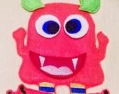 SALE Happy orange monster felt mat game educational game learning toy Eco-Friendly felt game