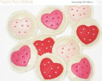 HEART FELT Pretend Play Cookies Set Of 4 #PF2540