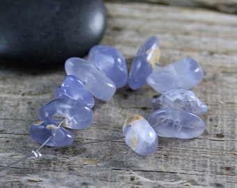 Purple Chalcedony Beads - 12-16mm - Chalcedony Beads - Natural Nugget Set of 10