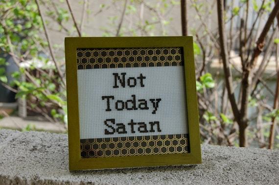 Not Today Satan Bianca Del Rio Quote Green Frame RuPaul's