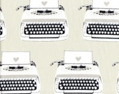 Cotton + Steel Melody Miller Black & White Typewriters - Half Yard